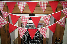 Red gingham bunting wedding, baby shower, barn dance, party, 5 mt 29 flags