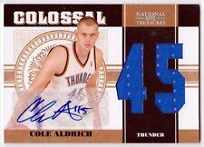 Cole Aldrich 2010-11 Playoff National Treasures AUTOGRAPH  Jersey #'d 20/49