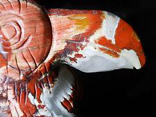 AWSOME RED JASPER TUCAN BIRD FETISH CARVING  5241