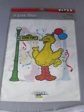 Vintage Sesame Street Big Bird party loot bags MIP