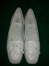 Enzo Angiolini Liberty Flats Ivory Leather  bow. &-quilted leather frontl 9 M