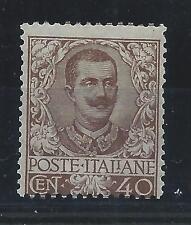 FRANCOBOLLI 1901 REGNO FLOREALE 40 CENTESIMI BRUNO LINGUELLATO MLH D/6437