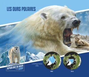 Niger Wild Animals Stamps 2018 MNH Polar Bears Bear Mammals Fauna 1v S/S