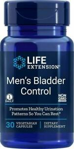 MEN'S BLADDER CONTROL HEALTHY NIGHTIME URINATION 30 Vege Caps LIFE EXTENSION