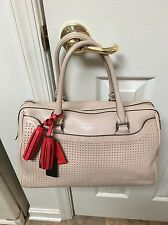 COACH LEGACY PERFORATED BISQUE HIBISCUS LEATHER SATCHEL STYLE 23577 NWOT