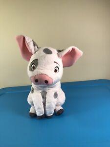 Disney Store Moana Plush Pua Pet Pig Piglet Animated Sound - SEE VIDEO