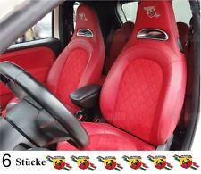 6x Abarth Performance für Ledersitze Aufkleber-Set Fiat 500 750 850 1000 Spider