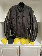 xElement Black N Grey Nylon Zip Motorcycle Jacket Mens W Armor Pads Size XL