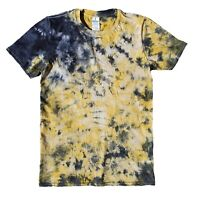 TIE DYE T SHIRT Yellow & Black Tye Die Tshirt Festival Top Tee Rainbow Rave Tee