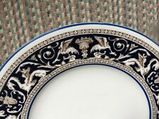 "WEDGWOOD -""FLORENTINE DARK BLUE"" -W1956 - SALAD PLATE - 12 AVAILABLE -"