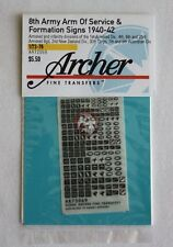 Archer 1/72 British 8th Army AoS & Formation Signs 1940-42 (Black/White) AR72069