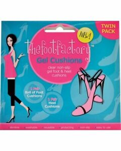 The Foot Factory Gel Cushions Ball Of Foot & Heel Liners Party Feet Shields