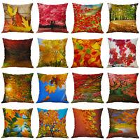 18''Iandscape Painting Pattern Cotton Linen Pillow Case Home Decor Cushion Cover