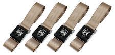 New Vintage Volkswagen Wolfsburg Tan 2-Point Seat Belts Made in USA - Set of 4
