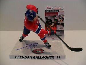 Brendan Gallagher Autographed Montreal Canadien Imports Dragon McFarlane JSA COA
