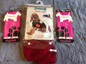 DOG SWEATER - SIZE MED [ 14-16 ] BURGUNDY - FASHION PET BRAND - WAS 18.00