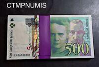 500 FRANCS  PIERRE ET MARIE CURIE 1994  LIASSE BANQUE DE FRANCE  LOT DE 100 EX.