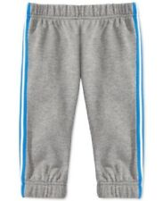 First Impressions Baby Boys' Fleece Jogger Pants, Pewter Heather, 18 Months