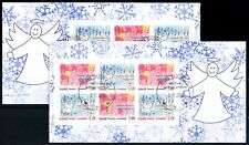 Greenland #487-488a, Christmas, booklet panes, VFU (TP00042)