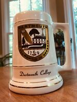 "Vintage Dartmouth College Mug Stein Cream Tankard Alumni New Hampshire 6"" MINT"