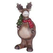 Clayre&Eef Deko Weihnachts Elch Rentier 21 cm Weihnachtsdekoration Figur 52426
