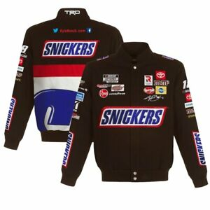 2021 Kyle Busch JH Design Brown Snickers Twill Cotton Uniform Full-Snap Jacket