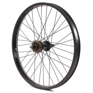 KHE BMX Back Wheel Aluminium Rim BIG400 36 Hole 0 9/16in Black 16 Teeth Pinion