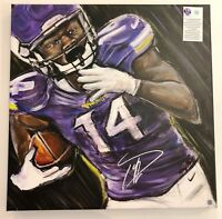 "Stefon Diggs MN Vikings Signed Auto Original Canvas Print 16""x20"" Amy Marie Art!"