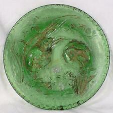 Baby Chicks Hatching Easter Openings Plate Early American Pattern Glass Green #2