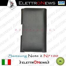 Custodia Cover Samsung N7100 Note 2 apertura libro nera nuova