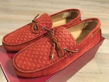 550$ Bally Weilon Pumpkin Suede Driver Size US 9 Made in Italy
