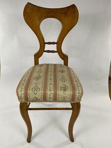 ORIGINAL Biedermeier Stuhl - Nussbaum - ca. 1820 - sehr gut erhalten! Sessel