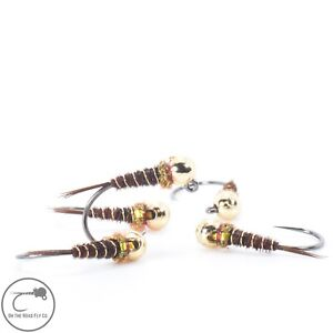 5 Hot Spot Pheasant Tail Nymphs #16. Euro Nymphs. Tungsten. Barbless Tied in USA