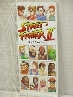 STREET FIGHTER II 2 Character Book Art Illustration Fanbook Ltd Booklet CP*