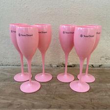 6 x Veuve Cliquot Clicquot Rose Glasses Flutes Cup Ice Champagne 2711201