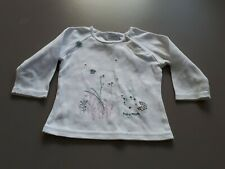 Mexx Baby Girl White Long Sleeve Top Age 6-9 Months