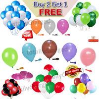 "30X 10"" Latex PLAIN BALLOONS BALLONS helium Quality Party Wedding Colour BALOON"