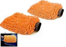 Car Valeting polish Cleaning microfibre Wash Mitt mit Glove Cloth noodle PAIR