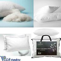 Luxury Duck Feather & Down Pillows Soft Hotel Quality Extra Filling Soft Support