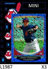 1-2013 BOWMAN CREAM OF THE CROP BLUE REFRACTOR RONNY RODRIGUEZ TIGERS /250 QTY