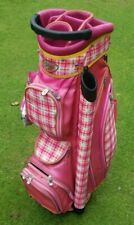 Glove It Ladies Cart Golf Bag Pink/Plaid 15 way divider, plus two carry-all bags