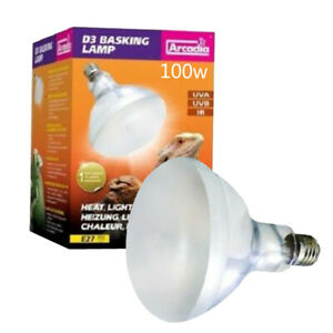 E27 UVA UVB Reptile Heat Lamp Full  Sun Light Basking Spot Lamp Bulb