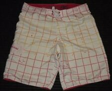 Aeropostale Board Beach Surf Swim Suit Long Shorts Trunk Mens Sz: 36 White Red