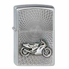 PERSONALISED EMBOSSED MOTORCYCLE GENUINE ZIPPO 2000225 LIGHTER - FREE ENGRAVING