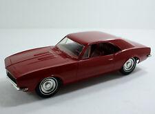 Vintage 1967 Camaro Promo Dealer Promotional Model Car Red Hardtop