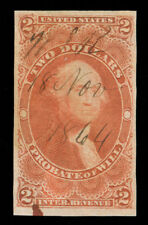 MOMEN: US STAMPS #R83a USED REVENUE IMPERF SCARCE PSE CERT