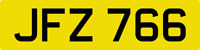 DATELESS PRIVATE NUMBER PLATE JFZ 766 CHERISHED REG COVER NON DATING CHEAP JF