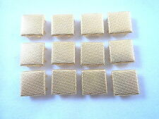 """12 Square Gold Tone Stippled Studs Clothing Decoration 1/2"""" Leather Craft"""