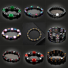 Stone Therapy Health Care Jewelry Black Magnetic Bracelet Beads Hematite