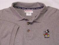 Mickey Mouse Disneyland Mens Gray Golf Polo Shirt L